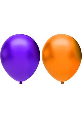 40'lı Metalik Balon Seti, 2 Renk X 20, Violet, Turuncu. Helyum Uyumlu B40V20VT