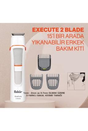 Fakir Execute 2 Blade 15'i Bir Arada Beyaz Erkek Bakım Kiti 2