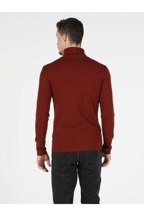 Colin's Slim Fit Balikci Erkek Kiremit Tshirt U.kol 1