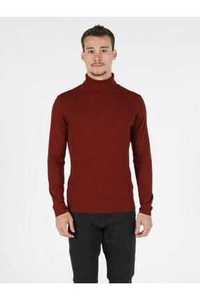 Colin's Slim Fit Balikci Erkek Kiremit Tshirt U.kol 3