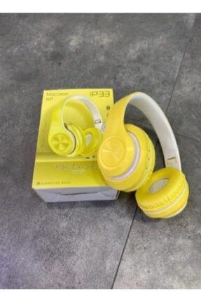 Hooptech Sarı Macaron Set Bluetooth Kablosuz Stereo Kulaklık 1