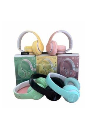Hooptech Sarı Macaron Set Bluetooth Kablosuz Stereo Kulaklık 3