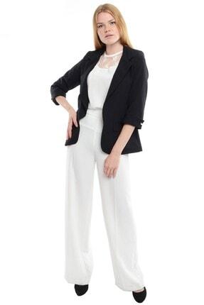 Reyon Kadın Siyah Kol İncili Blazer Ceket  18910001XXX 4