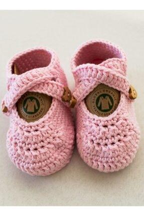 Organic Bonny Baby Organik Pembe Kız Bebek Patiği Özel Tasarım 1
