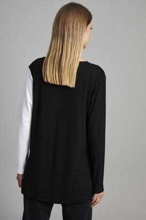 ELBİSENN Kadın Siyah V Yaka Garnili Bluz 3