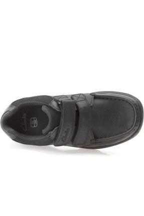 CLARKS Erkek Çocuk Siyah Deri Ayakkabı 2