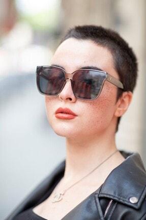 Bilge Karga Kadın Gri Bianca Grey Güneş Gözlüğü 4