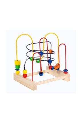 SİNKA Ahşap Koordinasyon Oyunu Helezon Yay Labirent Eğitici Oyuncak 0