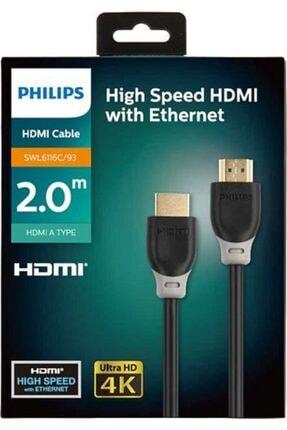 Philips 2 Metre Hdmı Kablo Altın Uçlu 4k Ultra Hd Kablo Swl6116c 0