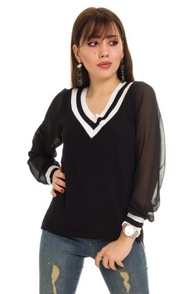 Kadın Siyah Triko Bluz 20Y.KKBY0105.00013-0001