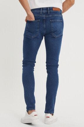 XHAN Erkek Lacivert Slim Fit Jean Pantolon 1kxe5-44351-14 2
