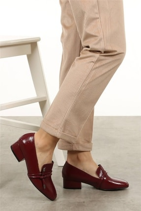 Mio Gusto Katrina Bordo Rugan Topuklu Ayakkabı 2