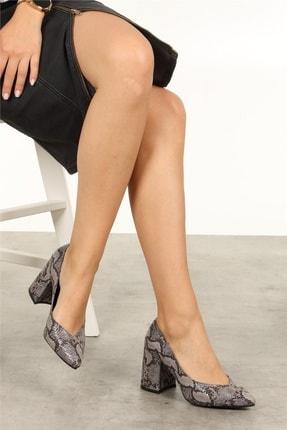 Mio Gusto Anna Gri Yılan Desenli Ayakkabı 3