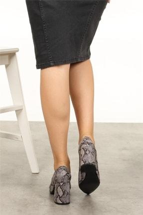 Mio Gusto Anna Gri Yılan Desenli Ayakkabı 4