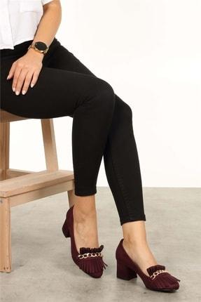 Mio Gusto Sharon Bordo Topuklu Ayakkabı 2