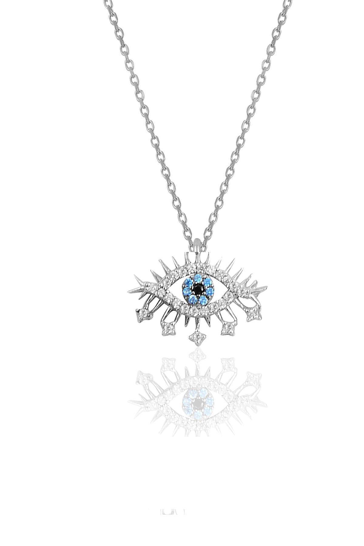 Söğütlü Silver Gümüş rodyumlu zirkon taşlı lareyn kolye küpe ve yüzük gümüş set 1