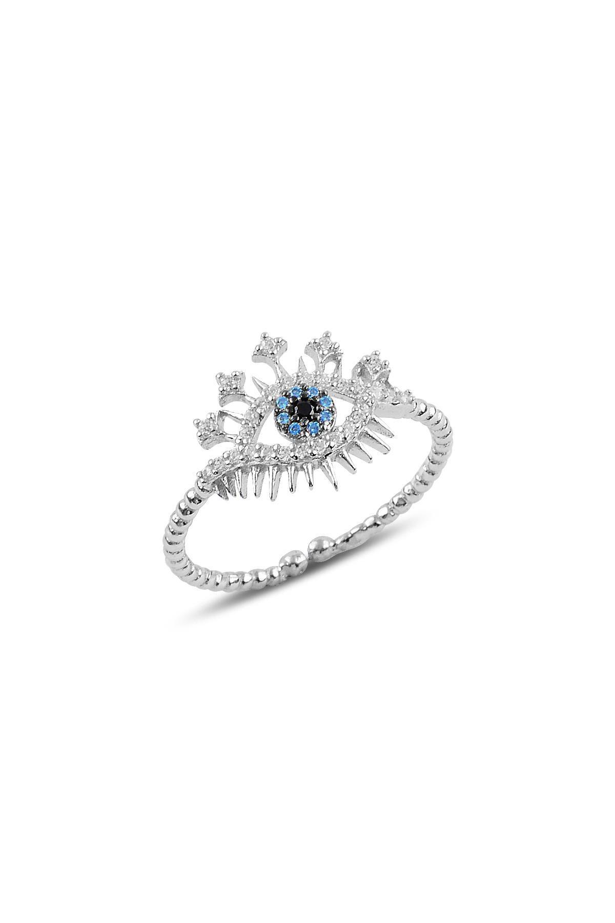 Söğütlü Silver Gümüş rodyumlu zirkon taşlı lareyn kolye küpe ve yüzük gümüş set 2