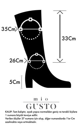 Mio Gusto Courtney Siyah Küt Burun Çizme 2
