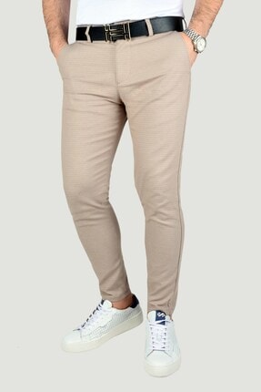 Terapi Men Erkek Bej Keten Pantolon 3