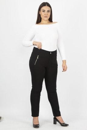 Şans Kadın Siyah Fermuar Detaylı Pantolon 65N20932 0
