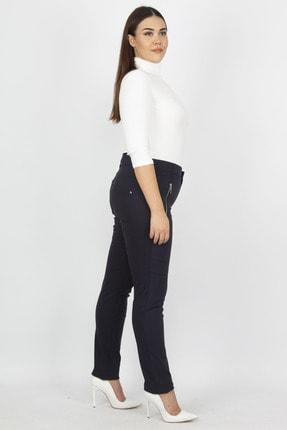 Şans Kadın Lacivert Fermuar Detaylı Pantolon 65N20932 1