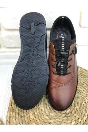 FOTİN - Hakiki Deri, Kauçuk Taban, Bağcıklı, Taba, Erkek Ayakkabı 2
