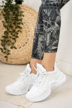 Moda Değirmeni Beyaz Kadın Sneaker Md1054-101-0001 0