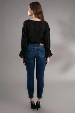 Pattaya Kadın Basic Yüksek Bel Dar Kesim Jeans Pantolon 10270 3