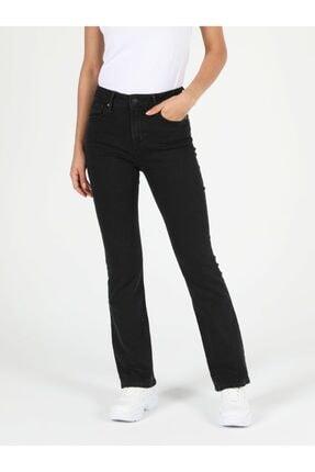 Colin's 791 Monıca Regular Fit Orta Bel Boru Paça Kadın Siyah Jean Pantolon 3