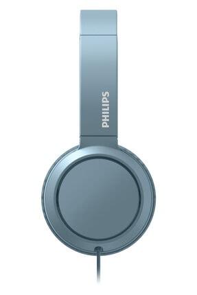 Philips Mavi Kablolu Kulak Üstü Kulaklık Tah4105 1