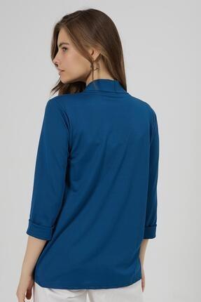 Y-London Kadın Lacivert Şal Yaka Blazer Ceket Y20W169-1185 3