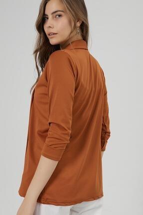 Y-London Kadın Taba Şal Yaka Blazer Ceket Y20W169-1185 3