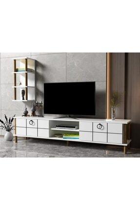 ayaz home Lotus Tv Ünitesi Beyaz 1