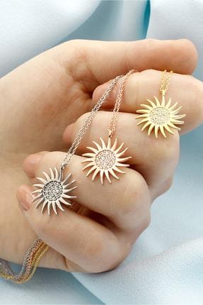 Else Silver Sadakat Güneşi Gümüş Kolye 3