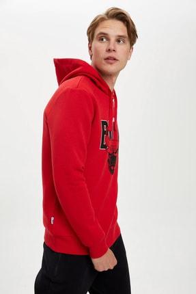 Defacto Fit Erkek Nba Lisanslı Unisex Kapüşonlu Sweatshirt 0