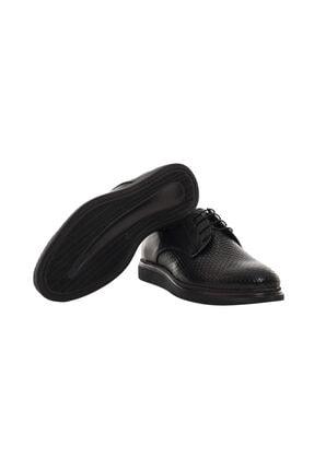 CSS FURKAN Erkek Bağcıklı Siyah Hakiki Deri Günlük Ayakkabı 2
