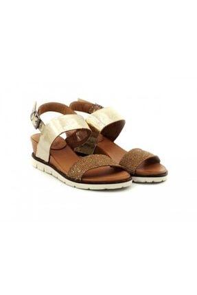 Kadın Altın Sandalet Viento