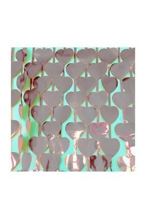Süsle Baby Party Metalize Kalpli Kapı Ve Fon Perdesi, 1 X 1,8 Mt - Gümüş 2