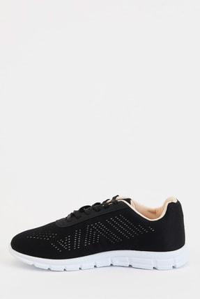 Defacto Kadın Siyah Bağcıklı Aktif Spor Ayakkabı S1728AZ20AU 1