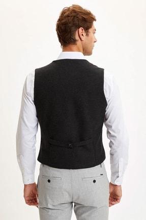 Defacto Erkek Antrasit Slim Fit Klasik Yelek R8010AZ20AU 3