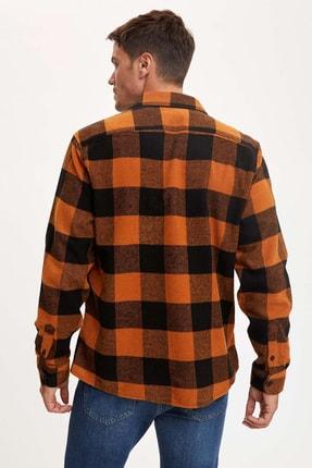 Defacto Ekose Uzun Kollu Regular Fit Gömlek Ceket 3