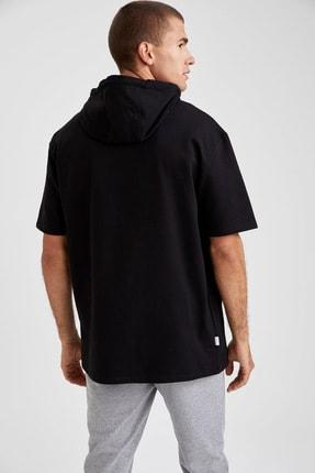 Defacto Fit Erkek Siyah Nba Lisanslı Oversize Fit Kısa Kollu Sweatshirt 3