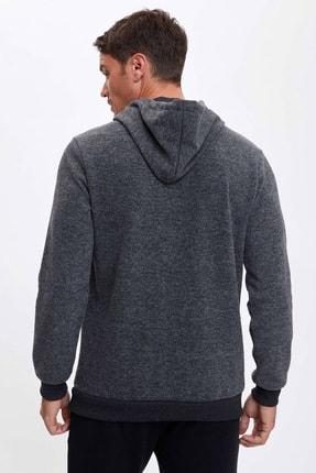 Defacto Forever Baskılı Kapüşonlu Regular Fit Sweatshirt 3