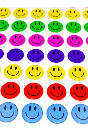 Face Gülen Yüz Emoji Sticker 79 Adet 2 Cm 0