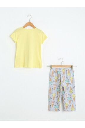 LC Waikiki Kız Çocuk Sarı Pijama Takımı 1