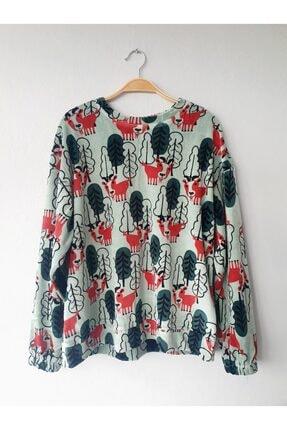 Gogoandy Yeşil Kadife Sweatshirt 0