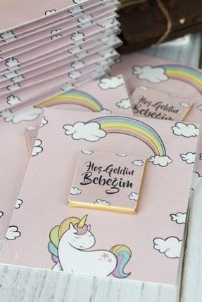 Doğum Günü Sepetim 32 Adet Bebek Çikolatası - Hediyelik Madlen Çikolata Unicorn 2