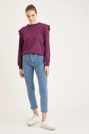 Defacto Dik Omuz Detaylı Relax Fit Sweatshirt 1