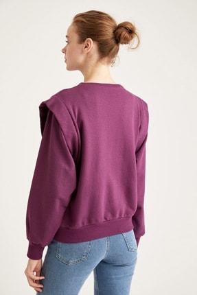 Defacto Dik Omuz Detaylı Relax Fit Sweatshirt 3