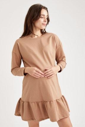 Defacto Volanlı Etek Detaylı Hamile Elbisesi 0